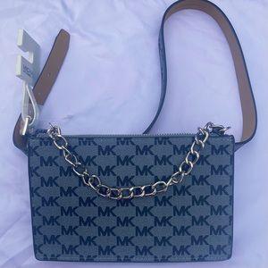 MICHAEL Kors chain belt bag gray logo size medium